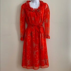 Vintage Mary Martin Florida Red Party Dress